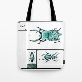 Bugs+Stones (Green) Tote Bag