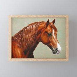 Chestnut Morgan Horse Framed Mini Art Print