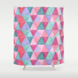 pastel triangle pattern Shower Curtain