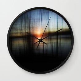 Sunset Blur Wall Clock