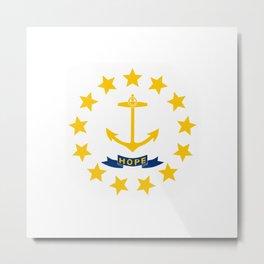 Rhode Island State Flag Patriotic Design Metal Print