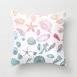 Mollusk madness Throw Pillow