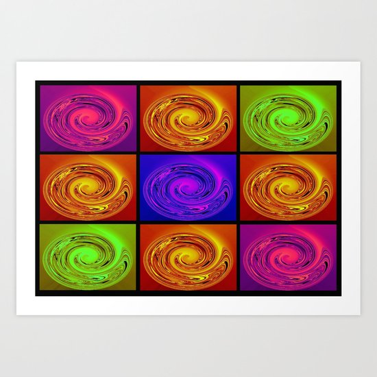 Abstract Collage Art Art Print