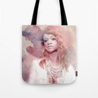 rihanna Tote Bags featuring Rihanna by Kanelko