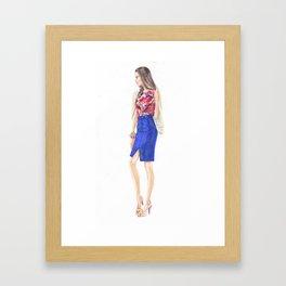 Girl Wonder! Framed Art Print