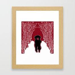 White Forest Snow Framed Art Print