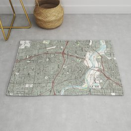 Sacramento California Map (1992) Rug