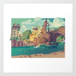 Puente de Triana Art Print