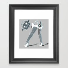 Robo Lover Framed Art Print
