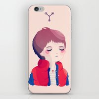 marty mcfly iPhone & iPod Skins featuring Marty by Nan Lawson
