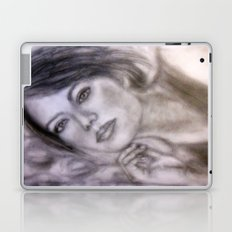 Pencil Portrait Drawing  - American Actress - Emma Stone Laptop & iPad Skin