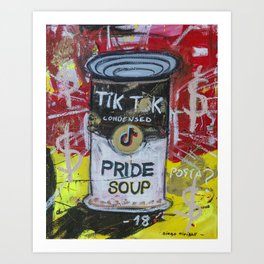 Pride Soup Preserves Art Print