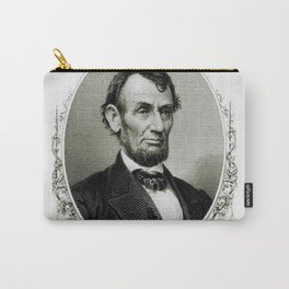 Engraving and anonymous portrait of Abraham Lincoln Carry-All Pouch