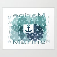 marine Art Prints featuring Marine by LoRo  Art & Pictures