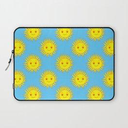 Smile Sun Face Pattern Laptop Sleeve