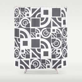 Bauhaus 39 Grey&White ed. Shower Curtain