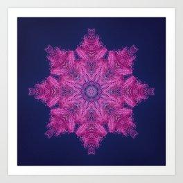 Cotton candy flower mandala Art Print