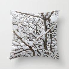 Snowy Tree Throw Pillow