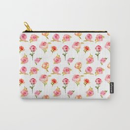 Rosarium. Hand drawn watercolor pattern Carry-All Pouch