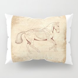 Da Vinci Horse: Canter Pillow Sham