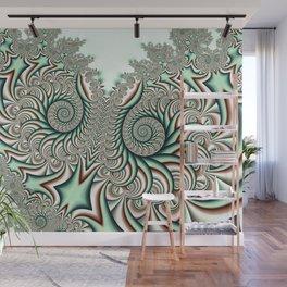 Owl Fractal Chocolate Mint Wall Mural