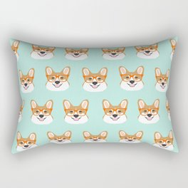 Corgi glasses cute funny dog gifts for welsh corgi dog breed owners must haves by pet friendly Rectangular Pillow