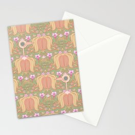 Get Out Of My Flowers You Idiot Birds Stationery Cards
