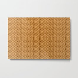 Sandy Geometric Pattern Metal Print
