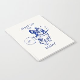 Frenchie Squat Notebook