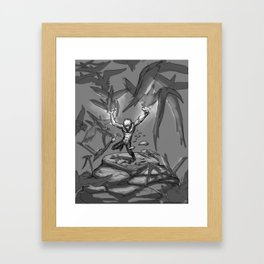 Dark Matters Phone Framed Art Print