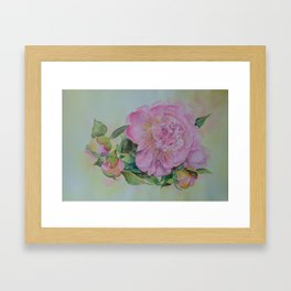 Spring around the corner Framed Art Print