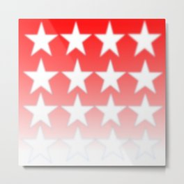 Red and White Stars, Faded Stars, Patriotic Metal Print