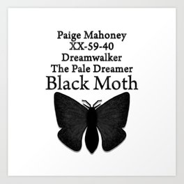 DREAMWALKER - THE PALE DREAMER - BLACK MOTH Art Print