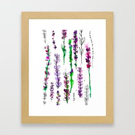 Lavender Watercolor Set Framed Art Print