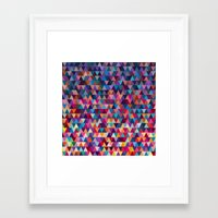 triangles Framed Art Prints featuring Triangles by Ornaart