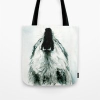 howl Tote Bags featuring HOWL by Joelle Poulos