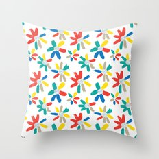 Floral Jewels Throw Pillow