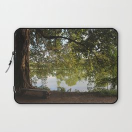 A bench under a tree Laptop Sleeve
