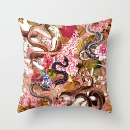 Dangers in the Forest VII Throw Pillow
