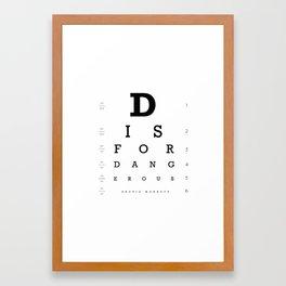 D is for Dangerous (White) Framed Art Print