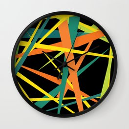 Yellow Fight Wall Clock