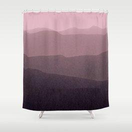 gradient landscape purple Shower Curtain
