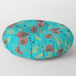 Icelandic Poppies Floor Pillow