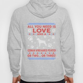 German Wirehaired Pointer Ugly Christmas Sweater Hoody