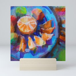 Still LIfe with Oranges and Limes Mini Art Print