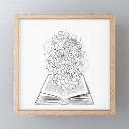 Life's book story blooming  Framed Mini Art Print
