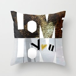 Love, love, love you Throw Pillow