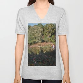 In the Zinnia Field Unisex V-Neck
