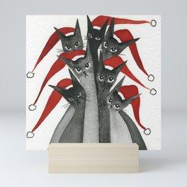 Peace Valley Whimsical Christmas Cats Mini Art Print