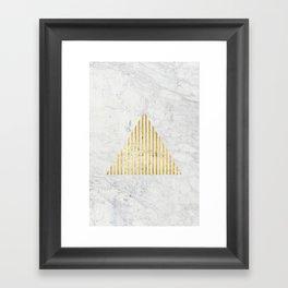 Trian Gold Framed Art Print